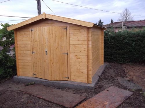 Construction abri et chalet dans l 39 ain 01 pr s de lyon rh ne 69 rj vert - Abri jardin ouvert bois lyon ...